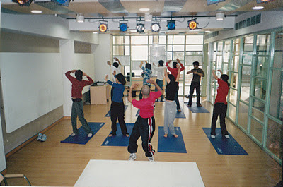Corporates learning Qi Gong