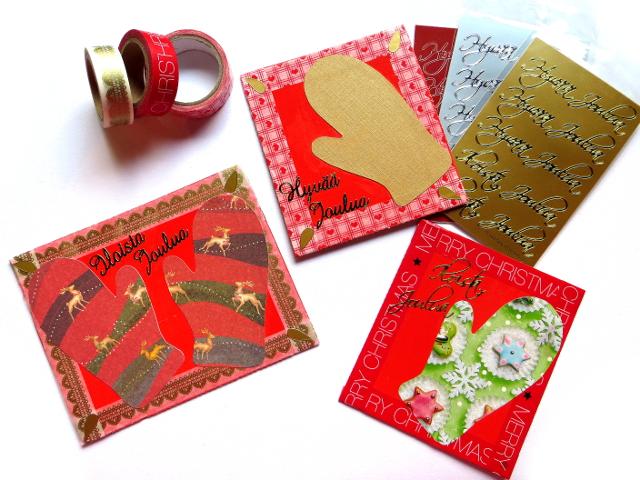 mitten christmas cards lapanen joulukortti