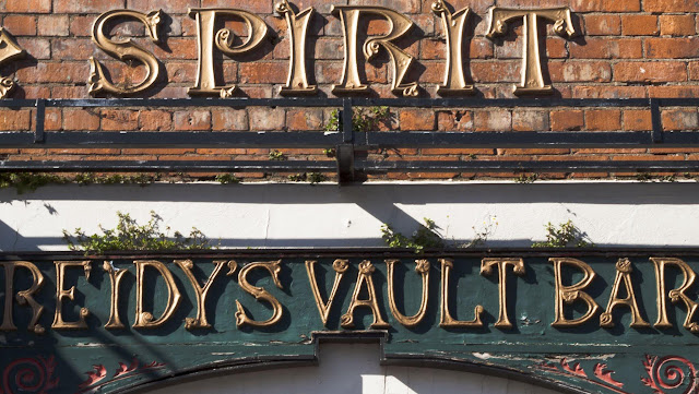 Sign for Reidy's Vault Bar in Cork, Ireland
