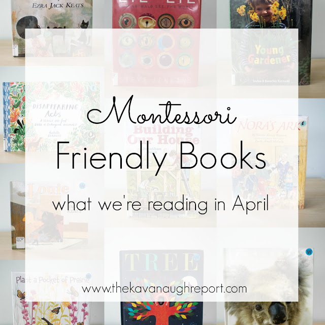 Montessori friendly books, children's books for a Montessori home.