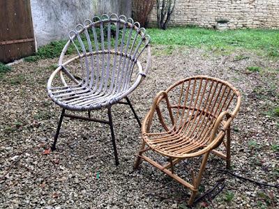 Mademoiselle Vintage Relooking Chaise Rotin Enfant Ann Es