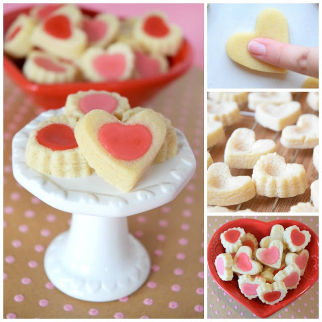 Heart Shaped Valentine's Day Shortbread Tea Cookies