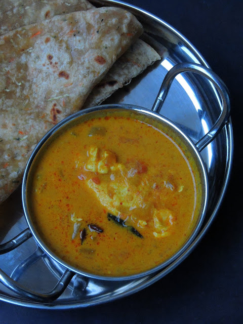 Poached Egg Curry, Egg drop curry