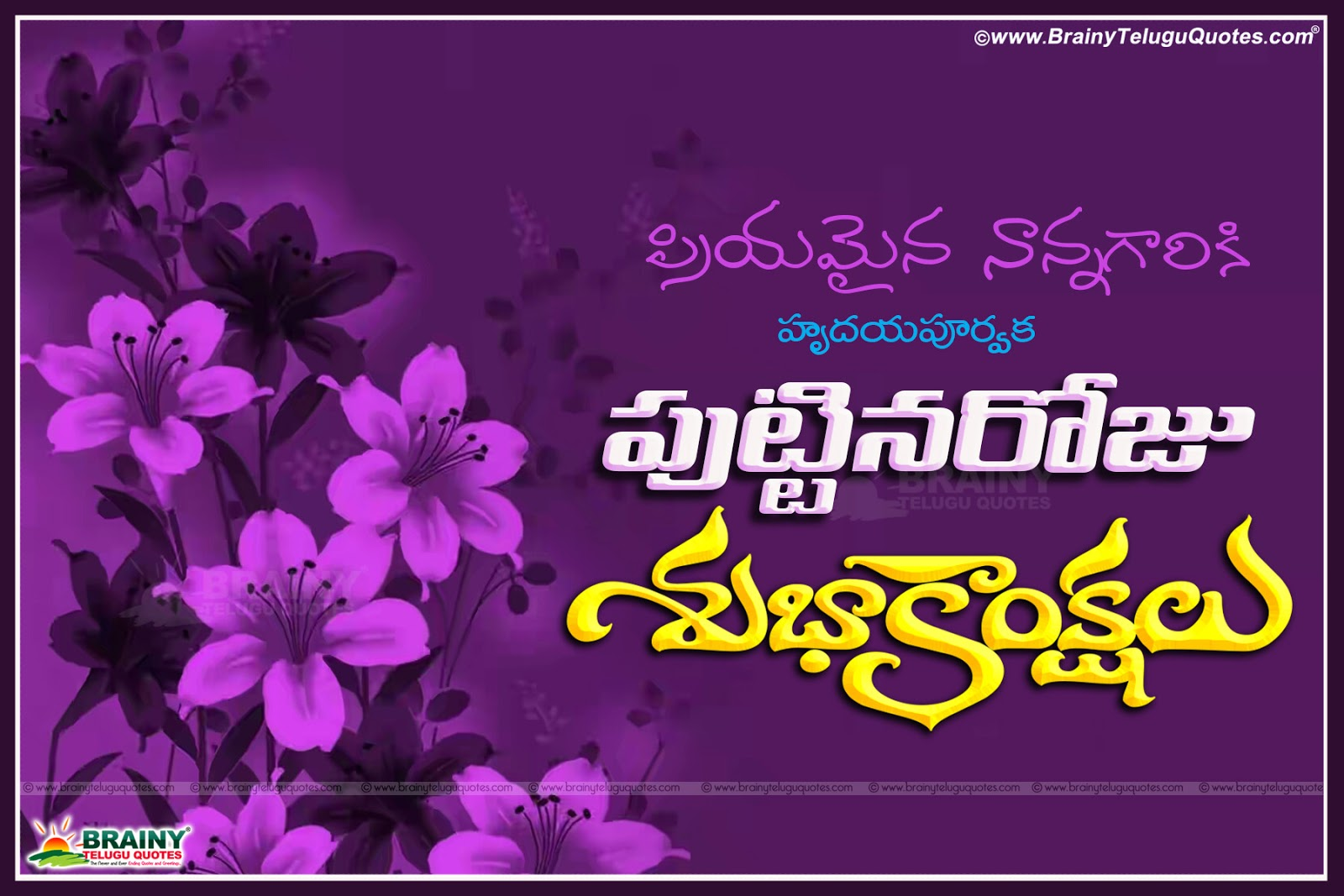 happy birthday nanna telugu captions quotes wishes images