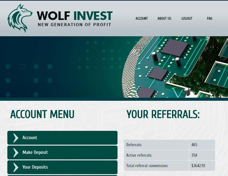 Оборот структуры Wolf Invest