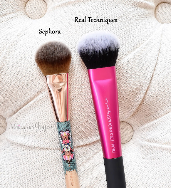 Sephora Mara Hoffman Real Techniques Cheek Brush Comparison Review