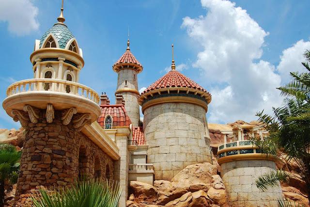 New Fantasyland Castelo Eric Pequena Sereia