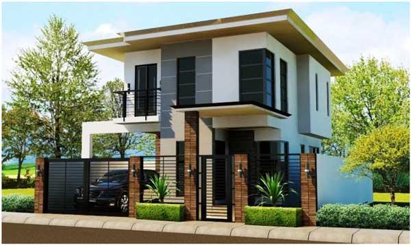 ide rumah minimalis 2 lantai sederhana modern