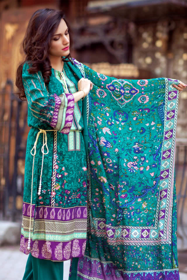 Firdous Pashmina Collection Winter Collection Winter Fashion Women's Fashion Dresses Collection Women Dresses Firdous Pashmina Collection 2017