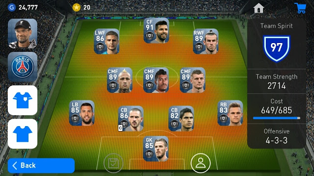 How to Increase and Lower Team Cost on PES 2019 Mobile - Trickagame