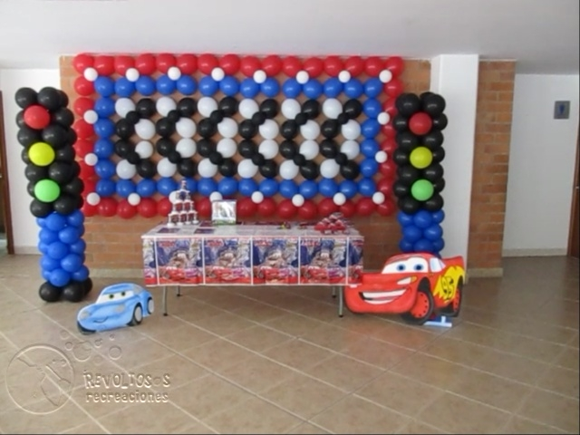 decoracion cars fiestas infantiles y recreacionistas On decoracion simple de cars