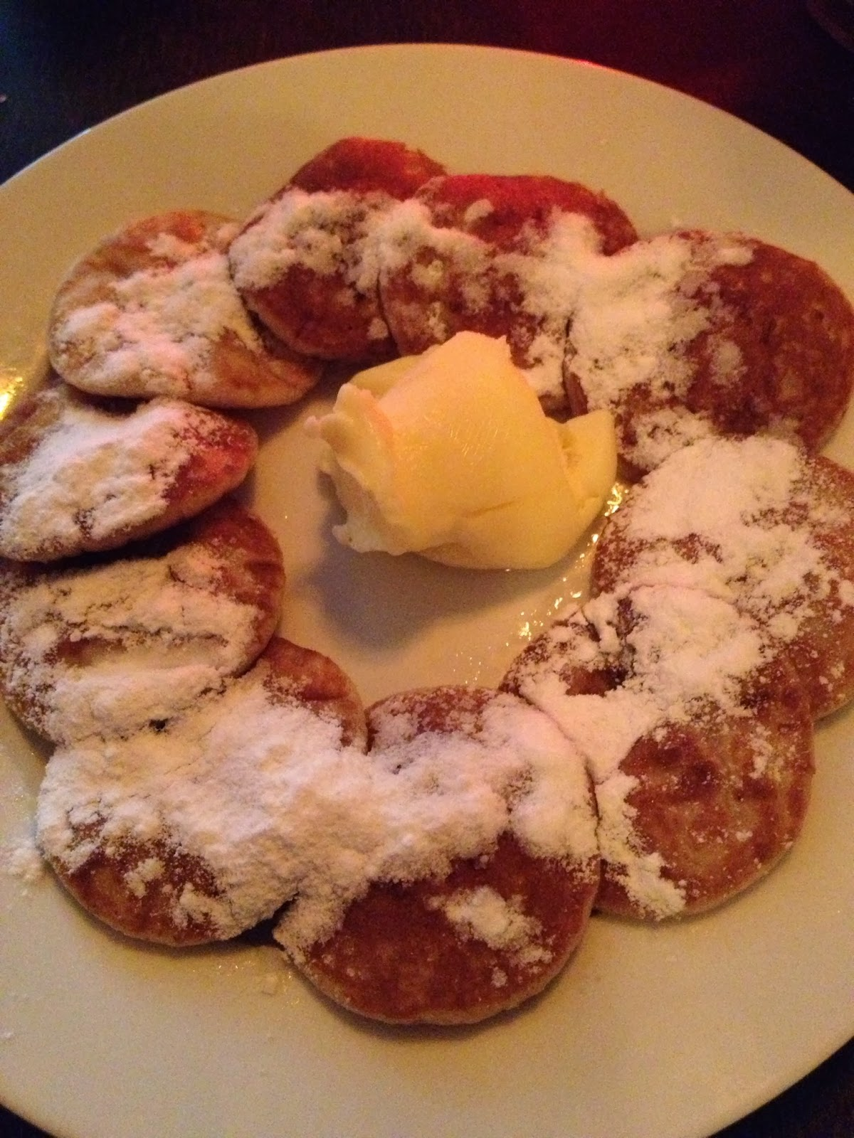Amsterdam - Tiny pancakes with butter and powdered sugar
