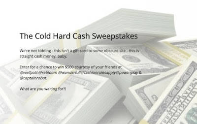 Confessions of a Frugal Mind: Sweepstakes ~ Enter to Win $500 Cash