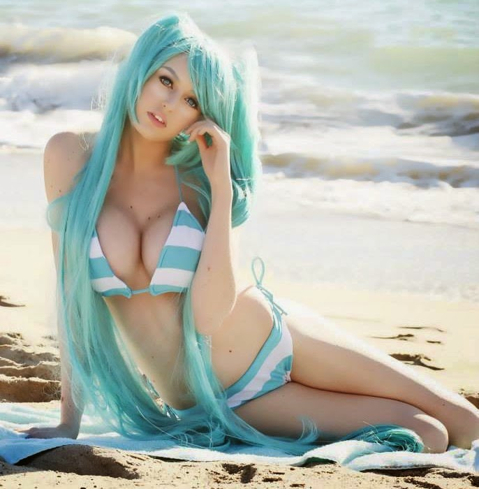 Super Mary Face, Hatsune Miku, Hot Cosplay