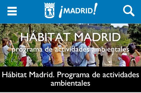 En El Aula Verde Actividades Medioambientales H Bitat Madrid