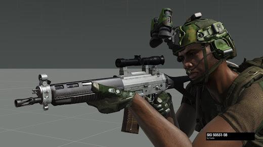 Arma3用NIArms SIG 550 MOD