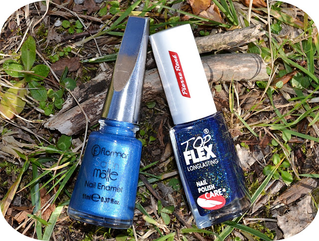 flormar satin matte azul pierre rene efecto arena azul shimmer Uñas harry potter nails nailart nail art severus snape alan rickman expecto patronus always