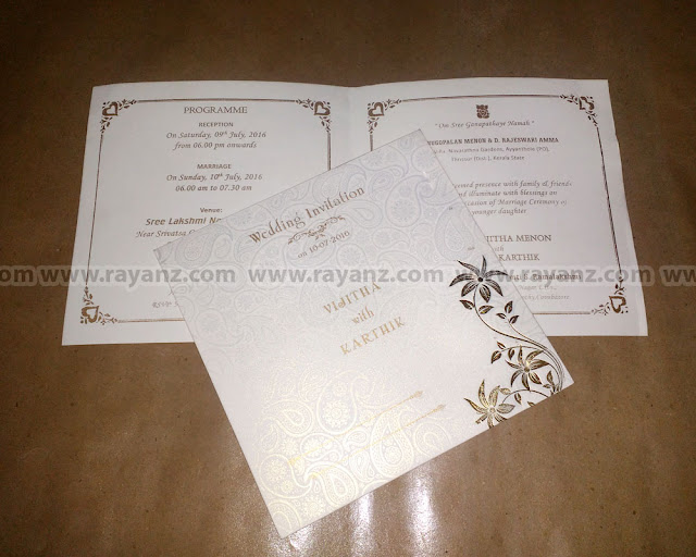 wedding invitation card printing in chennai - Invitation Card Printing