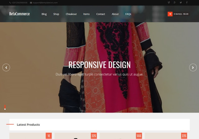 Beta Commerce Free Template Download