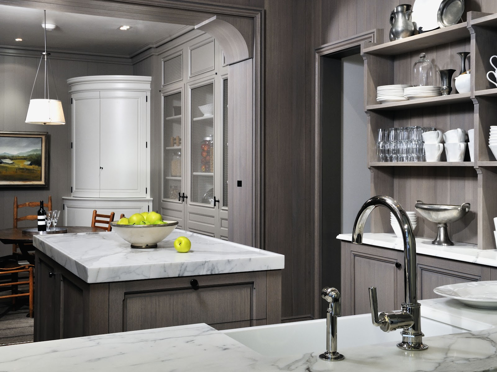 grey kitchen wood floor on pinterest gray kitchens grey cabinets and gray cabinets on kitchen cabinets grey and white id=56124
