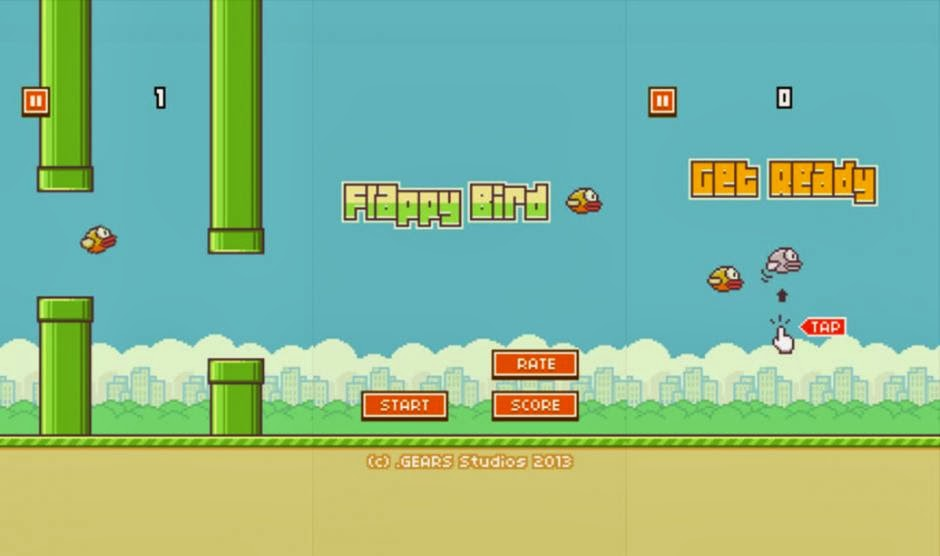 flappy bird game on android, ios