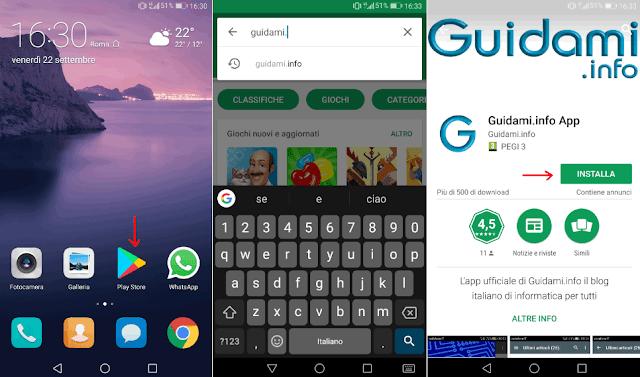 Android accedere al Play Store e scaricare app