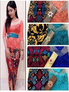 rok panjang batik model duyung