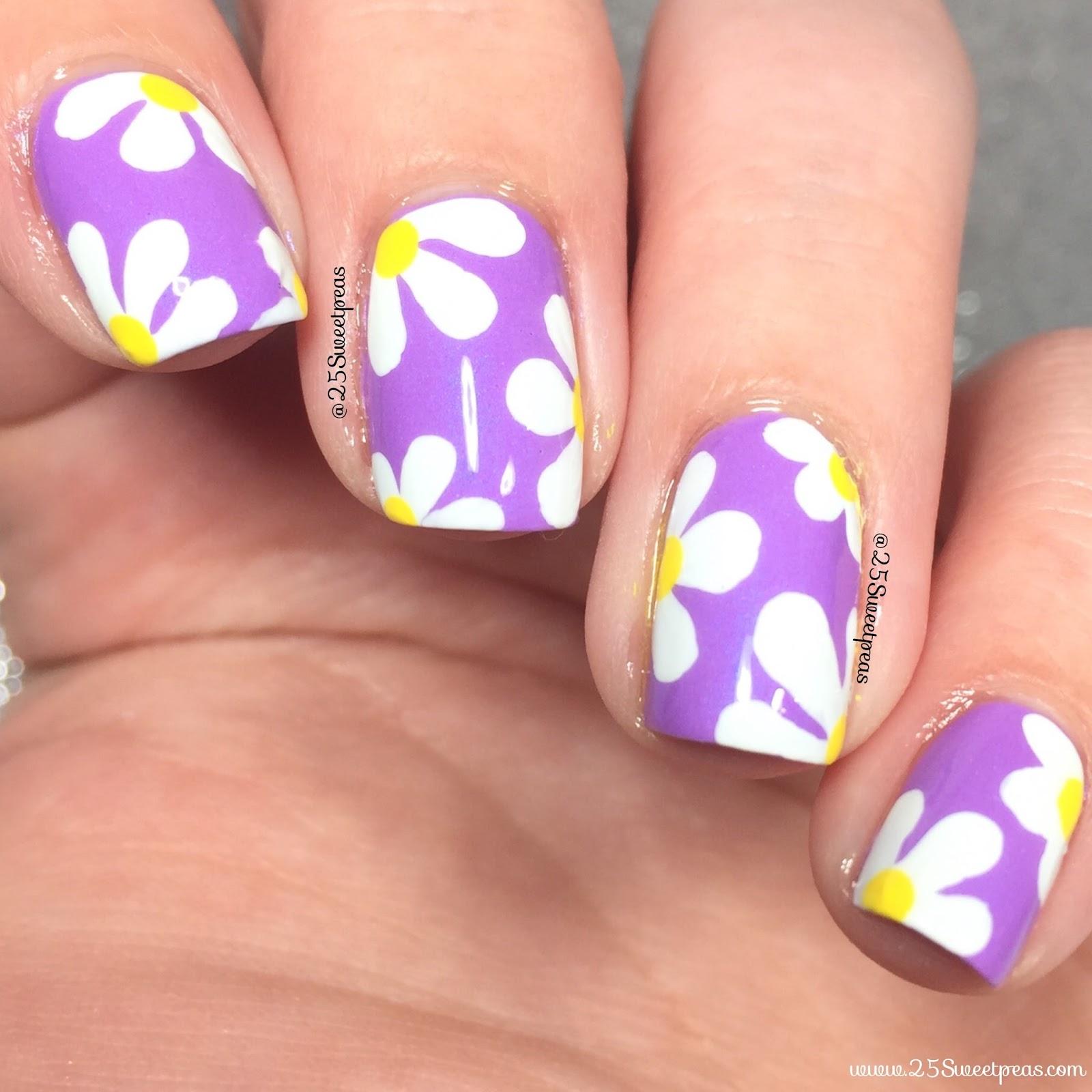 Daisies On Purple 25 Sweetpeas