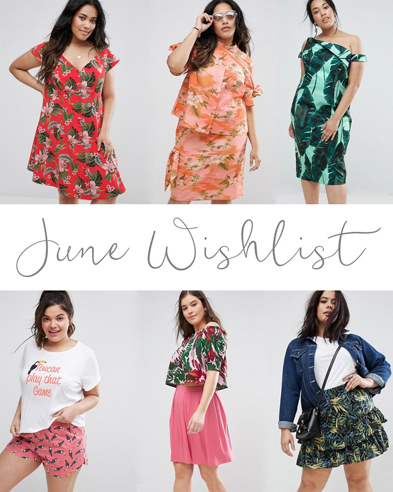 Plus size summer tropical wishlist