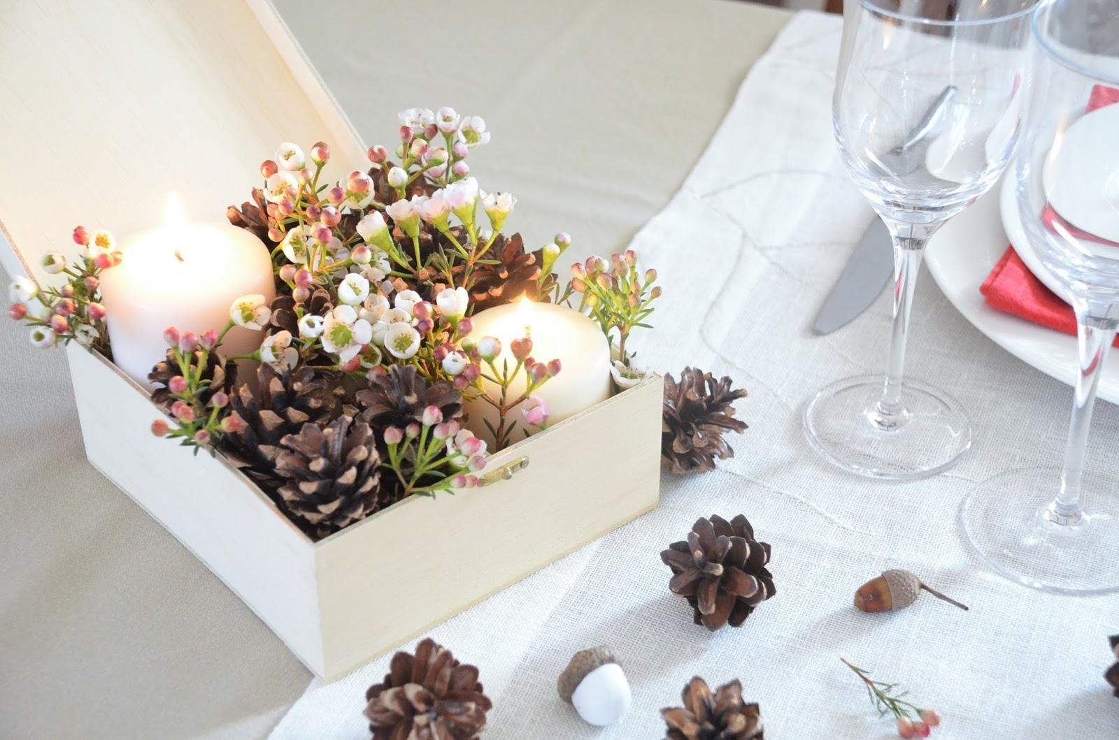 Appunti di una damigella creativa tavola di san valentino - Centro tavola natalizio con pigne ...