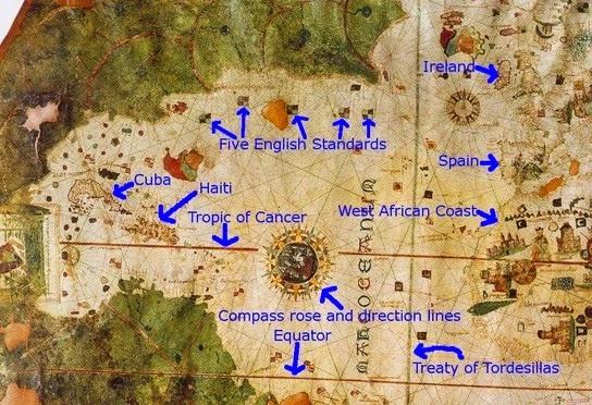 Resultado de imagen de Mapamundi de Juan de la Cosa