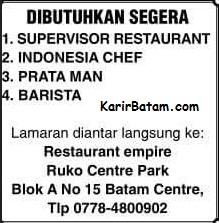 Lowongan Kerja Restaurant Empire