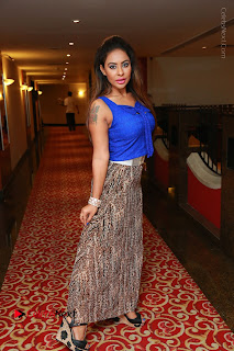 Telugu Actress Srilekha Reddy Latest HD Pos in Sleeveless Blue Top at Muse Art Gallery  0101.JPG
