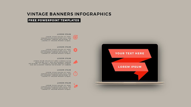 Vintage Banners Infographic Free PowerPoint Template Slide 10