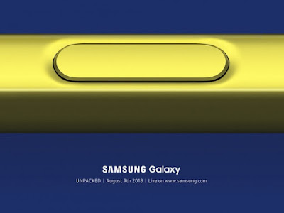 Samsung spread the invitation for on August 9th