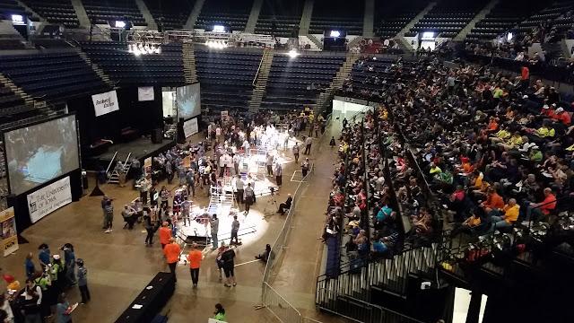 Enigma FTC Robotics competing at Super Regionals in Cedar Rapids, Iowa - March 2016