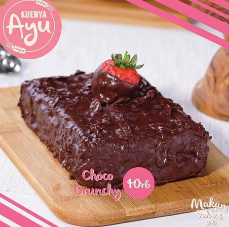 harga dan varian rasa kuenya ayu choco crunchy