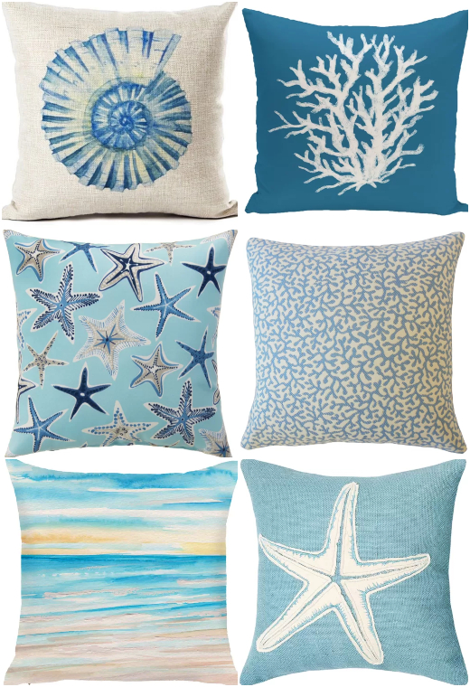 Blue Coastal Pillows