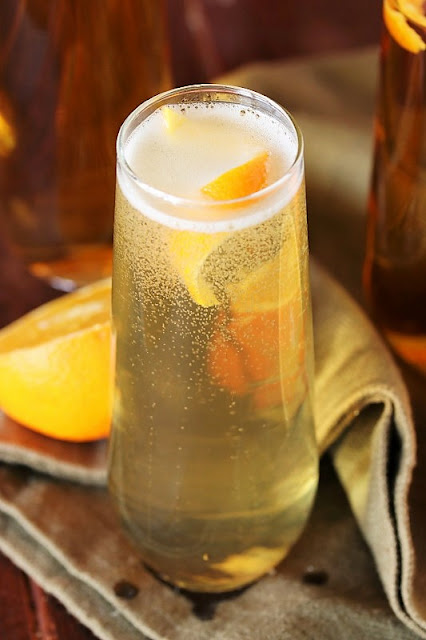 Royal Champagne Cocktail with Orange Twist Image