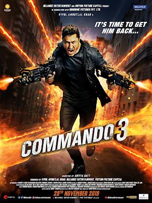 Commando 3 2019 Hindi 720p WEB HDRip 950Mb x264