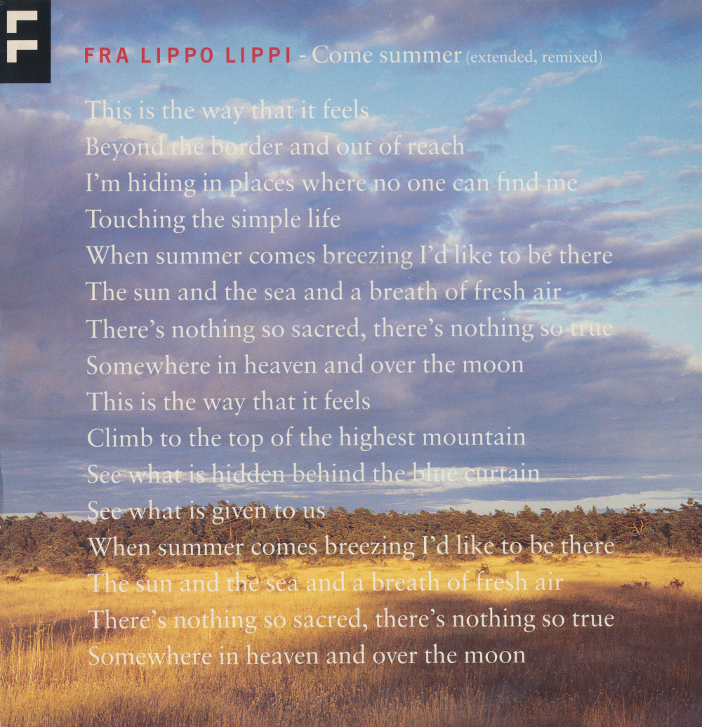 fra lippo lippi Lyrics to stitches and burns song by fra lippo lippi: people say that i'm a fool well i don't know at least i found out what it takes to be strong i w.