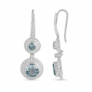 Velvetcase.com - Aquamarine Diamond Earring- Rs 77,649