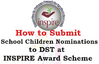 Inspire Award Registration Steps