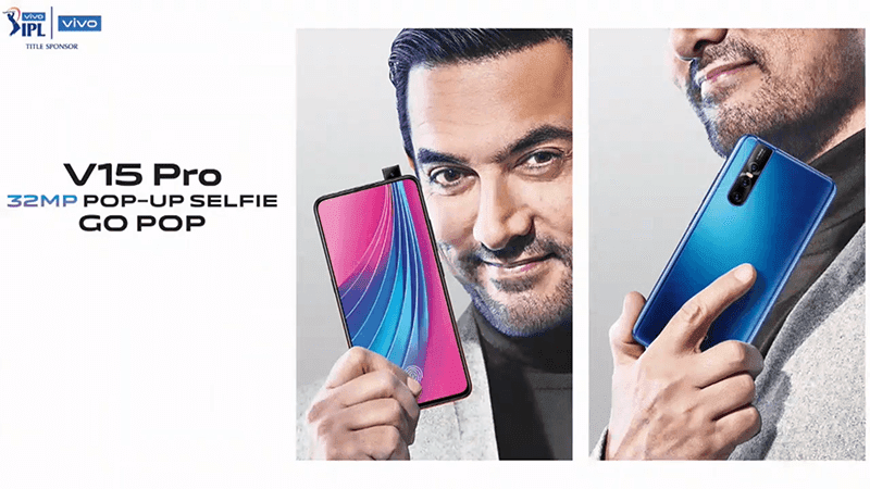 Vivo V15 Pro goes official in India with 6.3-inch Ultra FullView screen, 48MP triple-cam, and 32MP pop-up selfie cam