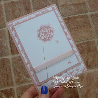 Balloon Celebrations Dandelion Card in Blushing Bride