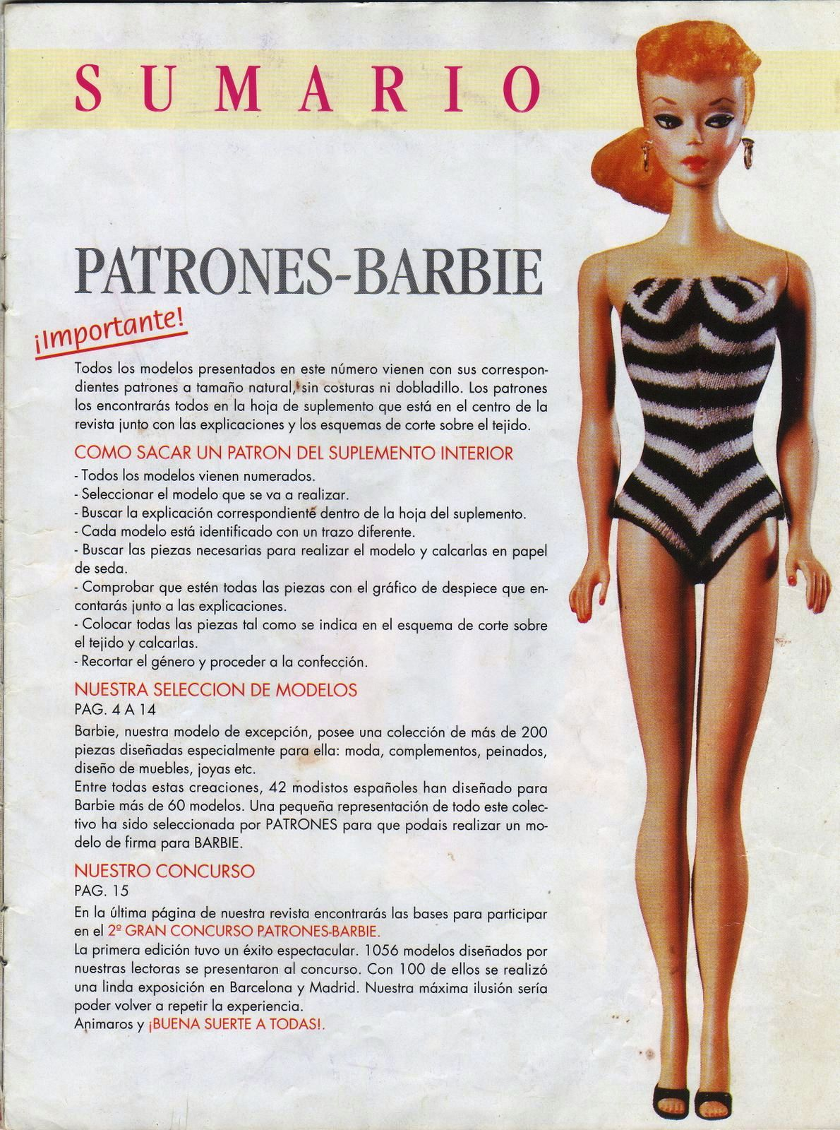 TU SITIO DE MANUALIDADES: Patrones de Barbie