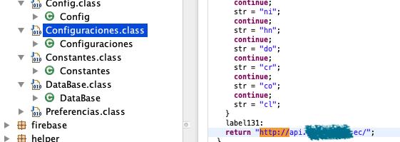 Evidencia de uso de canales HTTP (sin cifrar) en Apps para comunicación con Backends imagen