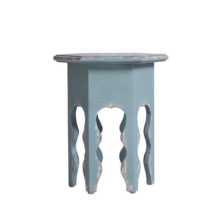 Peel Blue Painted Accent Table