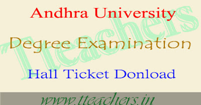 AU degree hall ticket 2017 download andhra university admit card