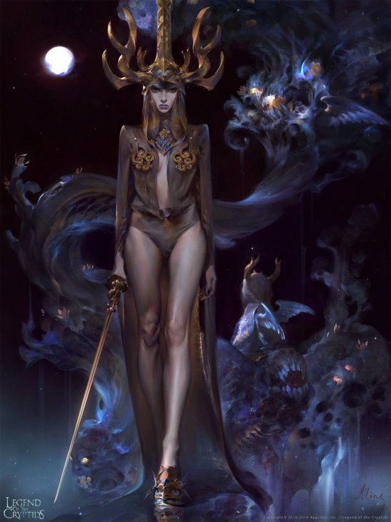Mingzhu Yang artstation deviantart ilustrações fantasia chinesa games legend of the cryptids